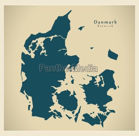 mapa moderno dinamarca