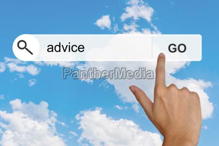 conselho na barra de ferramentas de