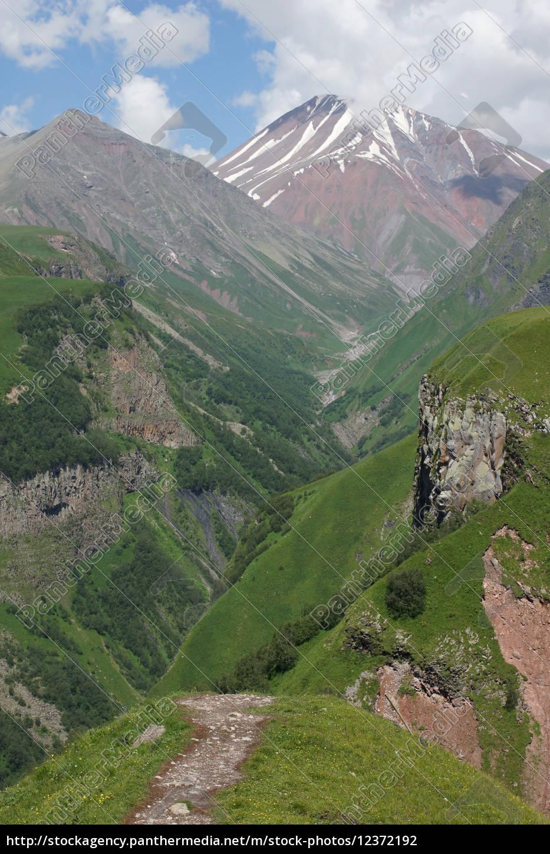 cross, pass, cáucaso, geórgia, europa - 12372192