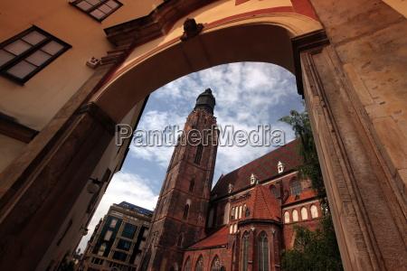igreja cidade cidade velha europa quadrado