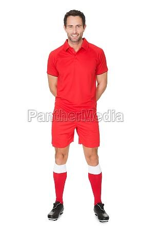 retrato do jogador de futebol