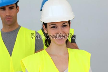 portrait of woman construction apprentice
