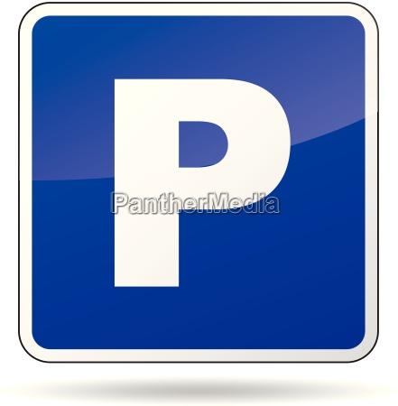 vector sinal do estacionamento