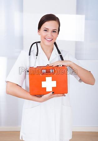 doutor femea feliz box aid segurar