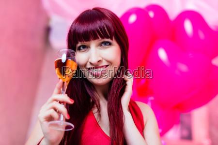 woman celebrating at nightclub