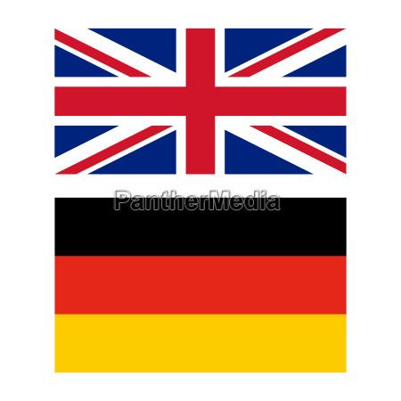 bandeira do reino unido e da