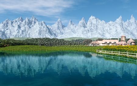 montanhas girassois fazenda agua salgada mar