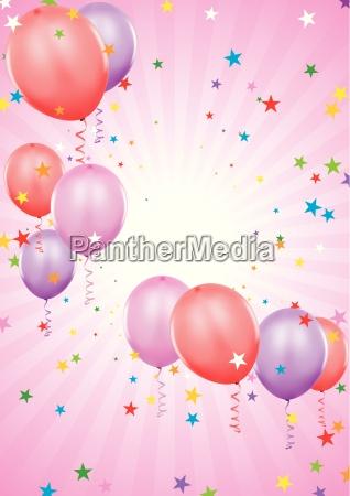 baloes do partido ilustracao do