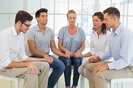 terapia do grupo na sessao que