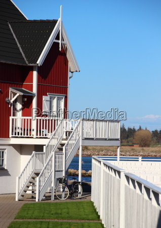 azul verao varanda olhar vista casa