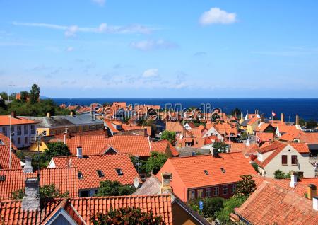 horizonte paisagem natureza telhado vermelho
