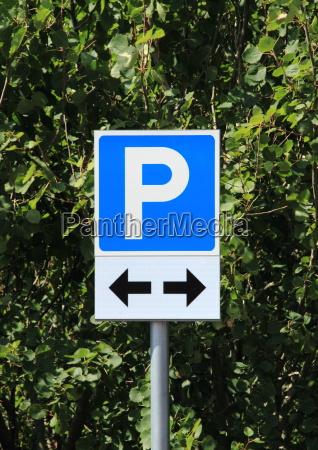 azul carta parque estacionamento sinal pictograma