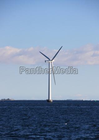 moinho de vento marinho unico com