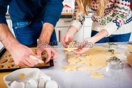 casal de cozimento nos cookies de