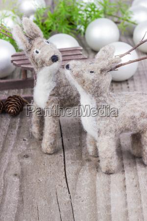 animais yule mare brinquedos feltro natal