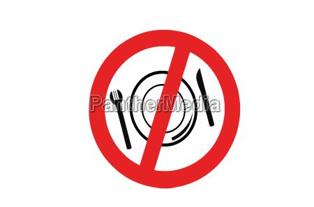 poster chapa garfo ilegal proibido comer