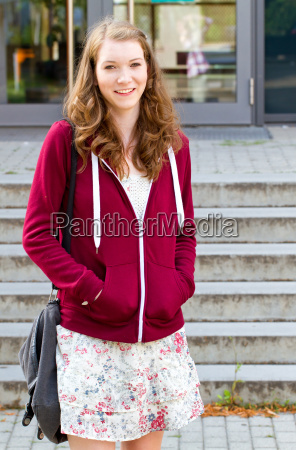 young woman at school