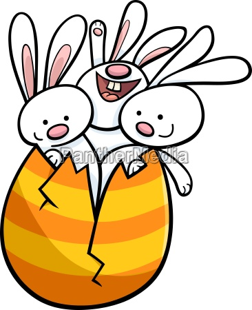 coelhinhos da pascoa em desenhos animados