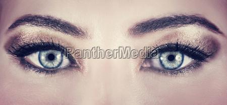 mulher belo agradavel close up olhos