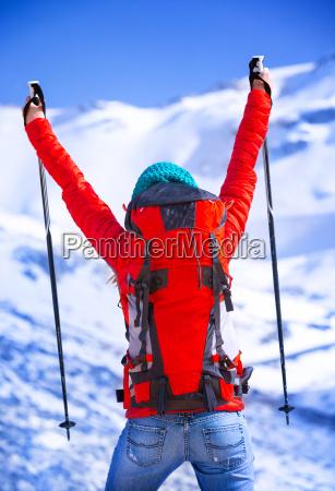 happy winner of winter sport games
