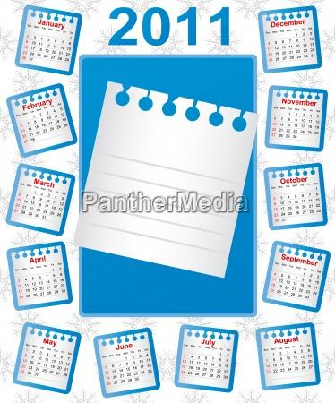 calendario 2011 semana comeca no domingo