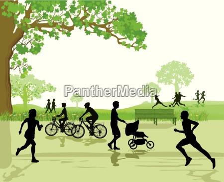 recreacao e esportes no parque