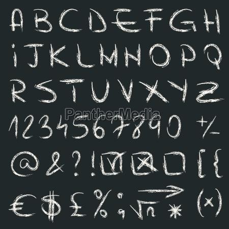 vetor desenhado mao do alfabeto