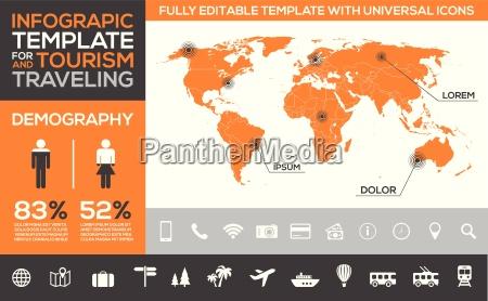 molde de infographic para o transporte
