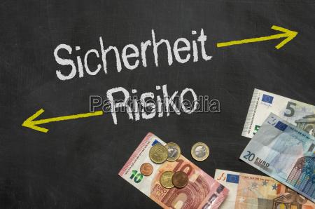 tabela risco arriscado palavra texto garantia