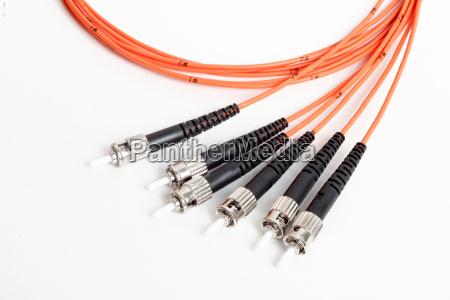 fibra de laranja optica patchcord conector