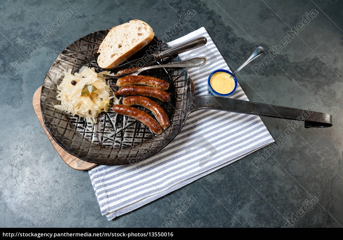 salsichas, da, oxidação, com, o, chucrute - 13550016