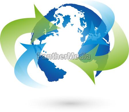 movimento em movimento setas logotipo globalizacao