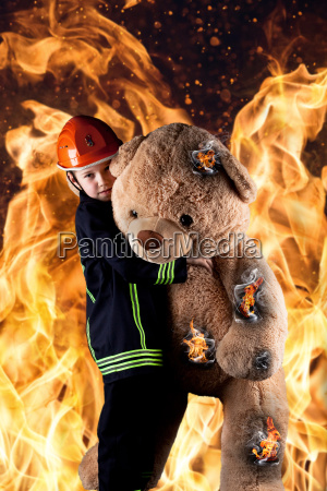 rescuers from the flames