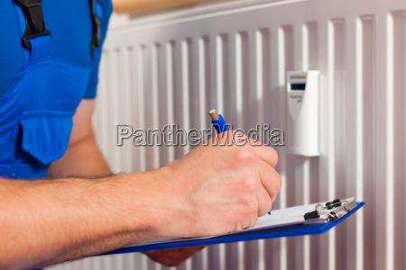 o tecnico le o aquecimento para