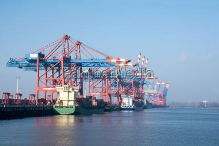porto de carga de hamburgo no