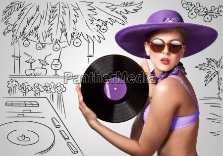 mulher discoteca taverna belo agradavel ouvir