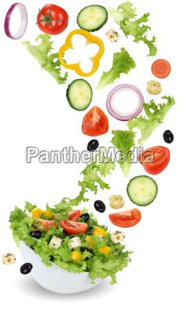 salada saudavel do alimento do vegetariano
