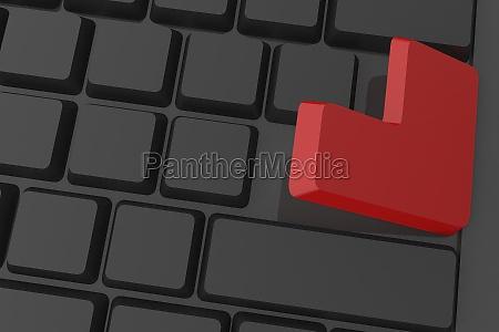teclado negro ilustracao entrar tecnologia ocorrer