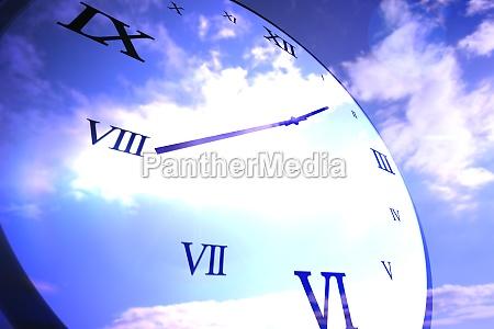 azul datas nuvem relogio data ilustracao