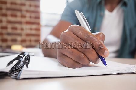 oficina carrera escribir trabajo masculino negro