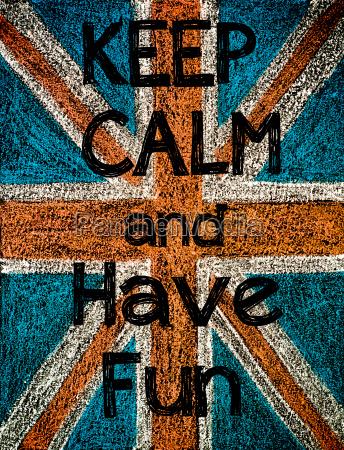 mantenha a calma e divirta se