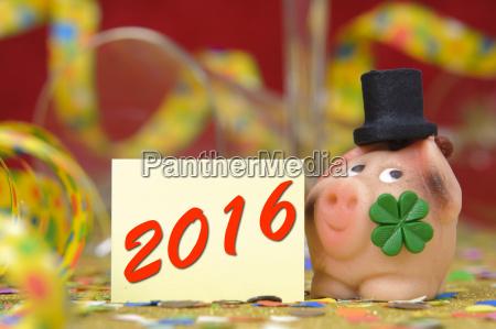 ano novo 2016 com sorte porco