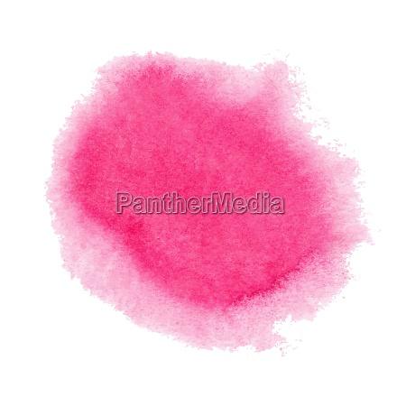 rosa aquarellfleck