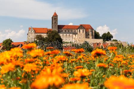 vista do castelo de quedlinburg e