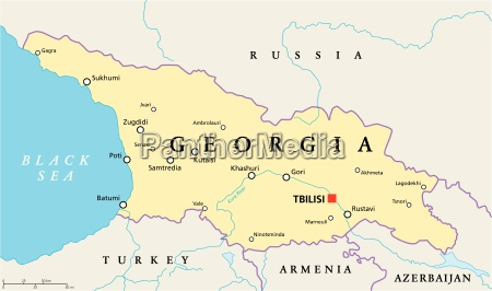 mapa politico da georgia