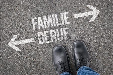 decisao no cruzamento familia ou trabalho