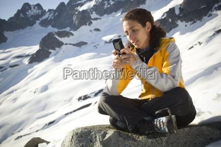 telefon mobil mobiltelefon tur rejse nationalpark