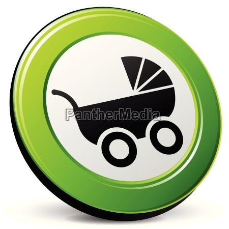 icone 3d carrinho de bebe