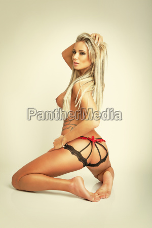 blonde nude girl in sexy panties