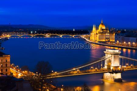 ponte reichstag parlamento budapeste danubio hungria